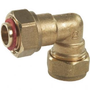"15mm x 1/2"" compression fitting Bent Tap Connector (Bag of 10=£18.54)"